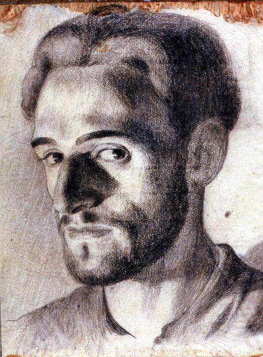 Disegni di Brancaleone Cugusi da Romana: Autoritratto di Brancaleone Cugusi