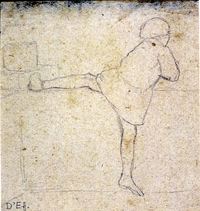 Disegni di Brancaleone Cugusi da Romana: studio per Bambina
