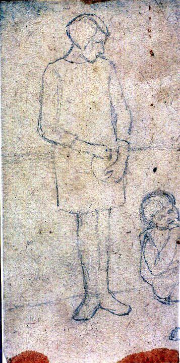 Disegni di Brancaleone Cugusi da Romana: studio per Ragazza e bambina