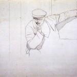 Disegni di Brancaleone Cugusi da Romana: studio per Uomo con berretto