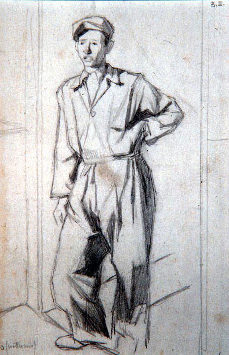Disegni di Brancaleone Cugusi da Romana: Uomo in tuta