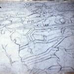 Disegni di Brancaleone Cugusi da Romana: studio per Paesaggio - 2