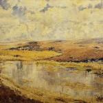 Opere di Brancaleone Cugusi da Romana: Paesaggio lacustre (1932-1934 circa)