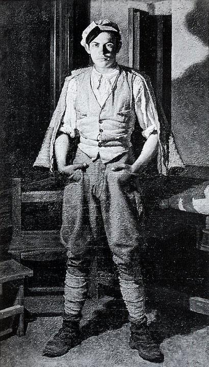 Opere di Brancaleone Cugusi da Romana: Ritratto intero di adolescente