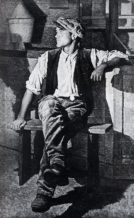 Opere di Brancaleone Cugusi da Romana: Giovane seduto (1937-1940)