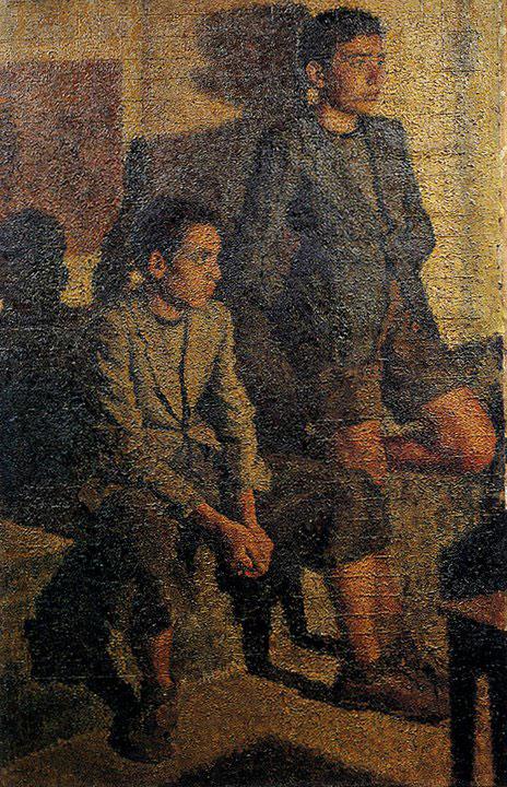 Opere di Brancaleone Cugusi da Romana: Ragazzi in strada (1940-1941)