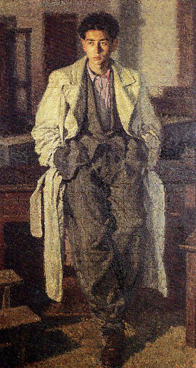 Works by Brancaleone Cugusi da Romana: Giovane con l'impermeabile (1940-1941)