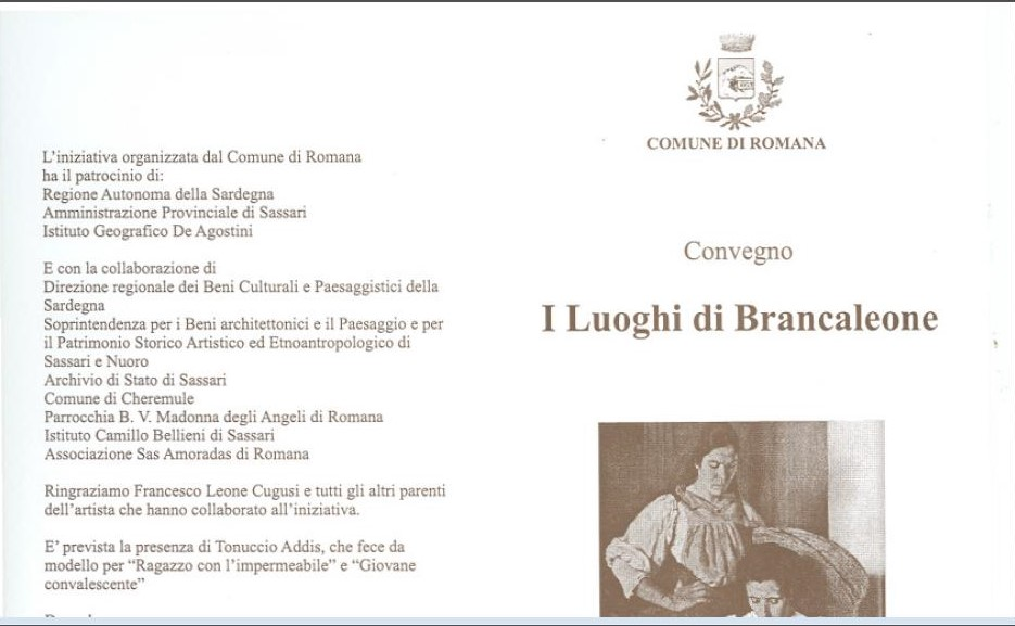 Convention The places of Brancaleone Cugusi da Romana