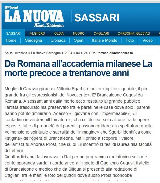 Brancaleone: from Romana to the Milanese Academy