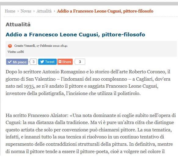 Goodbye to Francesco Leone Cugusi
