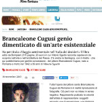 Vittorio Sgarbi enhances the genius of Brancaleone Cugusi da Romana