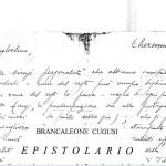 Brancaleone Cugusi, unpublished Epistolary, by Francesco Leone Cugusi