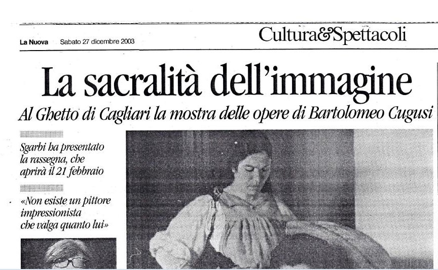 At the Cultural Center The Ghetto of Cagliari the exhibition of the works of Brancaleone Cugusi.