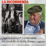 Celebrating 100 years old of one of Brancaleone Cugusi da Romana model