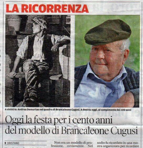 Celebrating 100 years old of one of Brancaleone Cugusi da Romana model